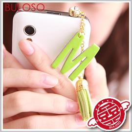 《不囉唆》【A251235】(不挑款) 26款英文帶鑽防塵塞 iphone 三星 HTC 配件/耳機塞 吊飾 3.5mm