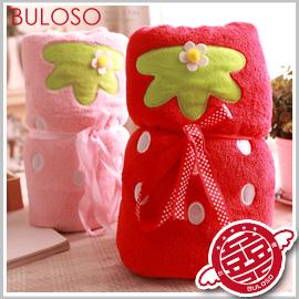 《不囉唆》韓風2色大草莓空調毯 抱枕/午睡枕/冷氣毯/涼被/毛毯(不挑色/款)【Y255059】
