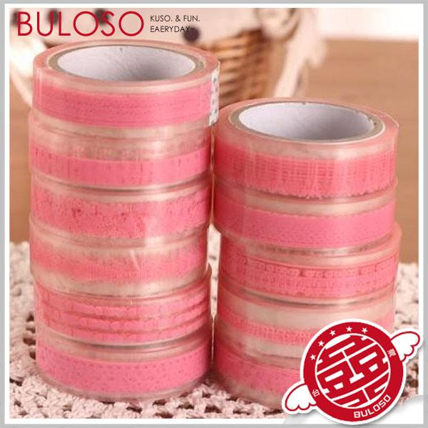 《不囉唆》2色粉/白透明蕾絲風格包裝膠帶 禮品包裝 包材 婚禮小物 聖誕節交換禮物 【A289399】