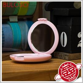 《不囉唆》歐式粉色花紋化妝鏡 隨身化妝鏡/巧妝鏡/小鏡子/小巧/便攜/梳妝鏡/手拿鏡【A297721】