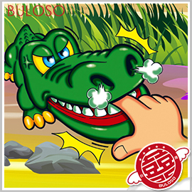 《不囉唆》瘋狂鱷魚 桌遊/整人/遊戲機/娛樂/玩具/拔牙/咬手/大嘴咬手指/反應【A299978】