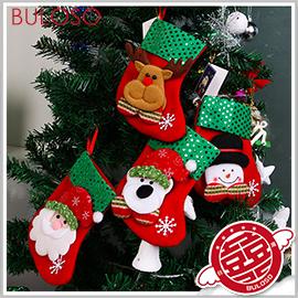 《不囉唆》亮片聖誕掛襪禮物袋 聖誕禮物/包裝袋/聖誕襪/包裝/交換禮物(可挑色/款) 【A406917】