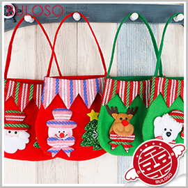 《不囉唆》聖誕裝飾拉絨布藝袋 聖誕禮物/包裝袋/聖誕袋/包裝/交換禮物(可挑色/款) 【A407340】