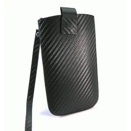 HTC Desire HD / A9191 抽拉式☆卡夢紋手拿包(黑色) ~適用:HTC Desire HD/A9191/HD7~
