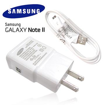 Samsung Galaxy NOTE2  原廠旅充頭+傳輸充電線~(5V~2A輸出) 適用:S5360/S5380/S6102/S6500/S6810p/S7500/S7562/S5 i9600