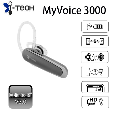 i-TECH  MyVoice  3000  耳掛式藍芽耳機  (黑色)