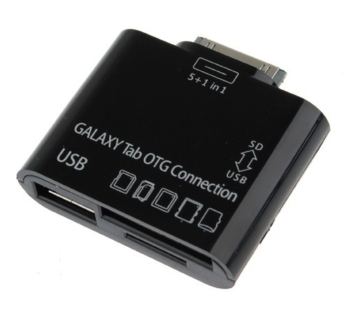 Samsung Galaxy TAB專用 OTG資料連接線+相機/鍵盤/隨身碟 USB 多功能讀卡機~適用:TAB 7.7/P6800/TAB 10.1v/P7100/TAB 7.0Plus/P6200