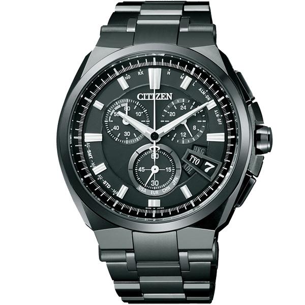 CITIZEN星辰BY0044-77E炫黑頂級電波鈦金屬光動能腕錶/黑面43mm