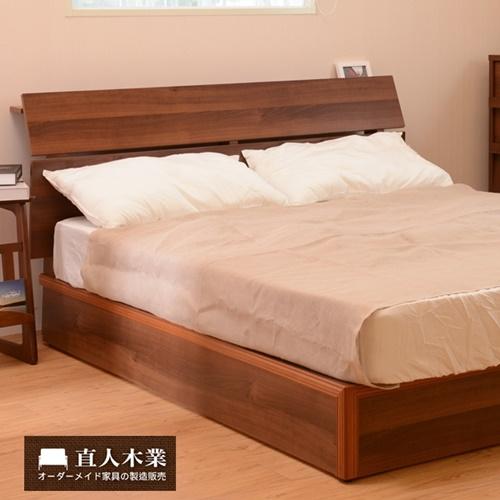 【日本直人木業】STYLE簡約標準5尺雙人床組(床頭加床底二件組)