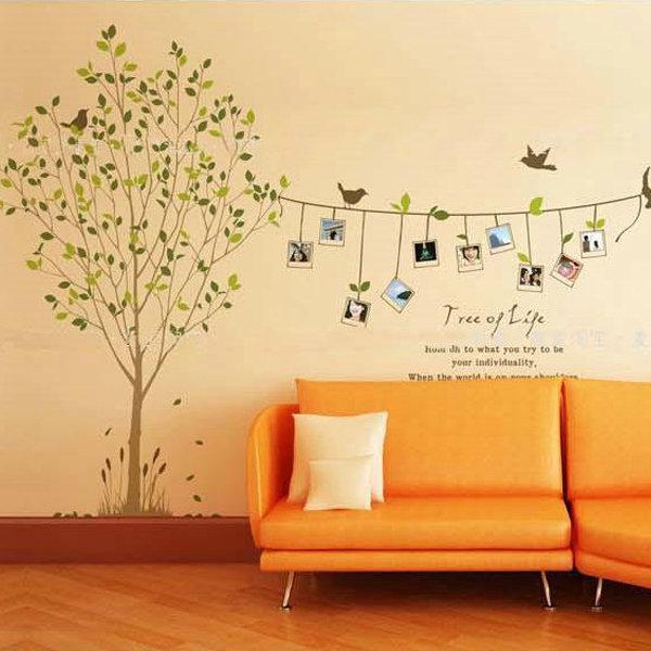 BO雜貨【YV0576】DIY相片樹 相框貼 照片樹 組合相框壁貼 牆貼 璧貼紙 璧貼 生命樹LM8001