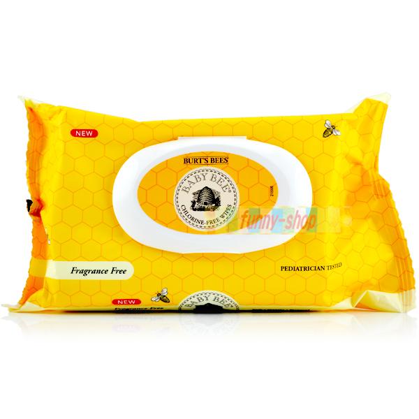 【巴布百貨】Burt's Bees 蜜蜂爺爺 幼兒專用 無憂無氯寶貝無香精 濕紙巾 (72抽)