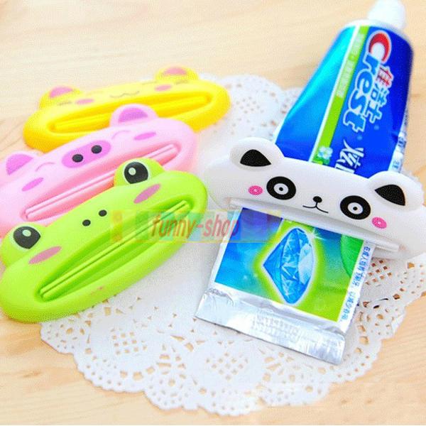 【巴布百貨】可愛動物多功能擠牙膏器(1入)五款 隨機出貨