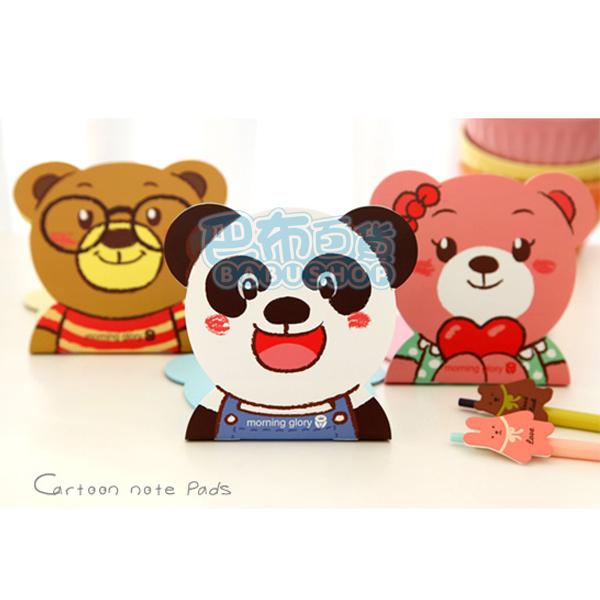 【巴布百貨】韓版 超萌療癒系熊熊總動員 隨身筆記本 記事本 (11.5cmX12cm) 三款隨機出貨