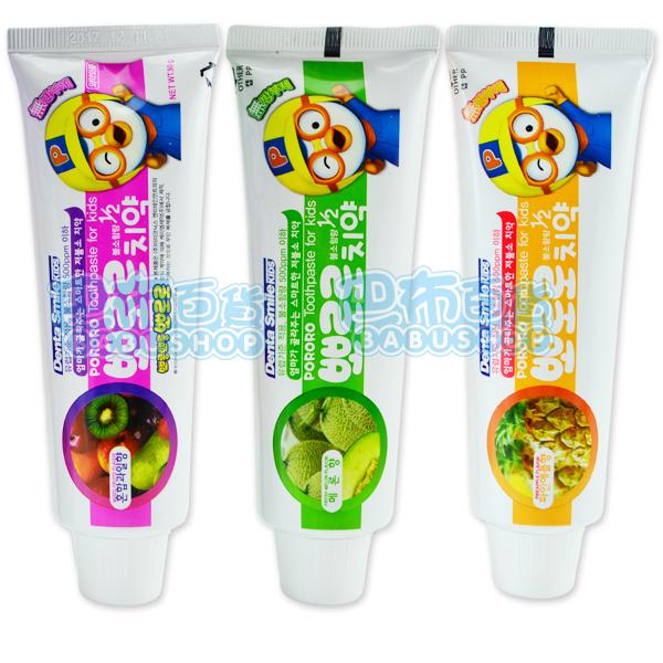 【巴布百貨】韓國 PORORO 淘氣小企鵝 照護牙周兒童牙膏 (90g)