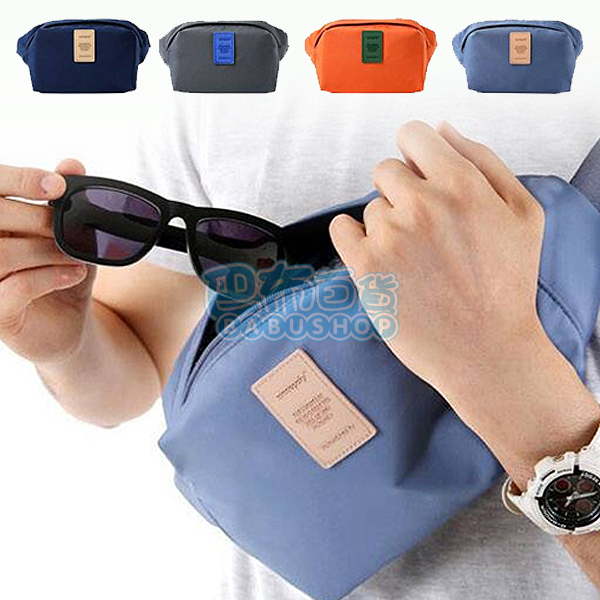 【巴布百貨】多功能戶外運動貼身收納腰包/臀圍包 前掛後掛惻背掛包 大包規格