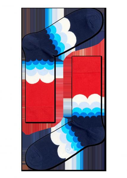 ☆Mr.Sneaker☆ 瑞典 Happy Socks 2015 奇幻雲朵 中筒襪 CR01 繽紛 歡樂 快樂襪 男女尺碼 波浪 海浪 紅/藍/白