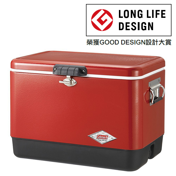 Coleman |美國|  54QT 經典鋼甲冰箱/不鏽鋼冰箱 露營冰桶/CM-04320M000 【容量51L】