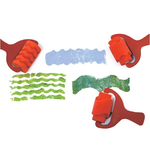 【華森葳兒童教玩具】美育教具系列-花樣滾輪-紅色系列 L1-AP/406/PR