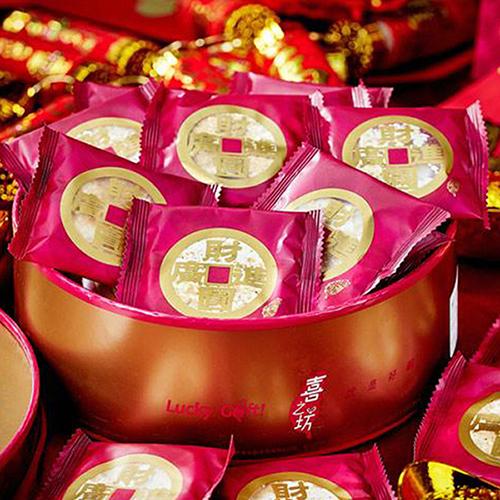 2017年節預購開跑 財圓廣進圓片牛軋糖禮盒80盒組
