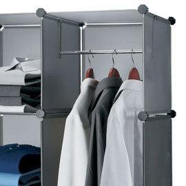 Loxin【SG0098】ikloo~12吋收納櫃延伸配件-單格用短衣桿 衣架 曬衣桿 曬衣架 衣櫃 311