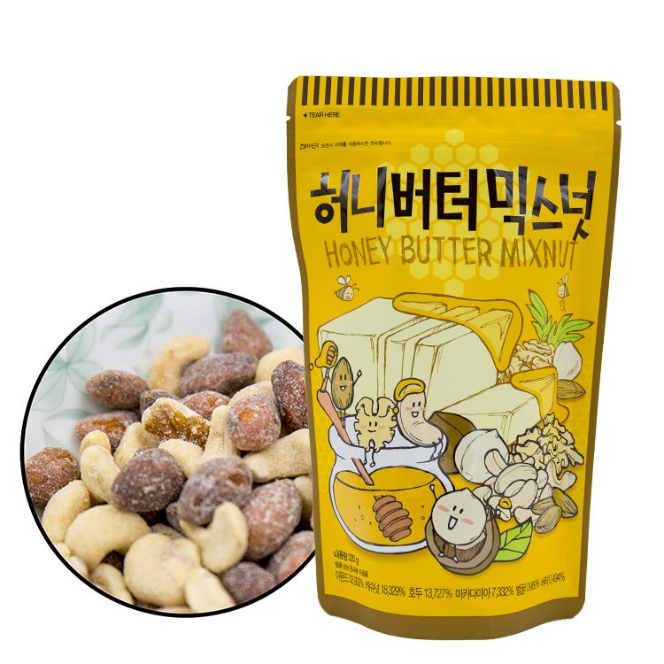 韓國 Toms Gilim 蜂蜜奶油綜合堅果 220g 杏仁 堅果 核桃 腰果 進口零食【庫奇小舖】