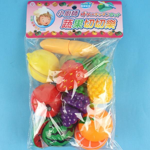 水果切切樂 ST-818 小廚師蔬果切切樂/一袋入 促[#180]家家酒玩具~生