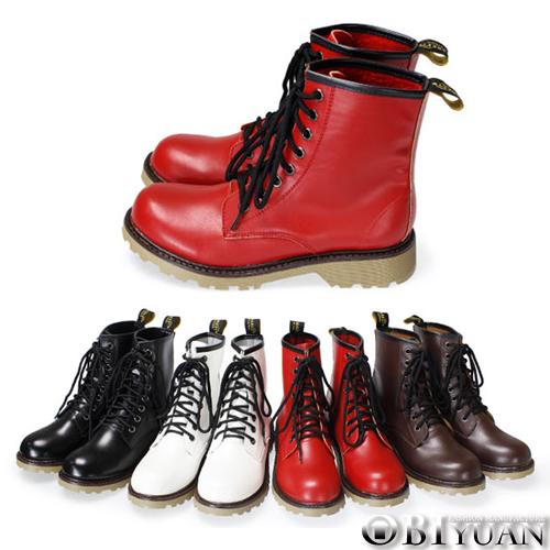 (女鞋)MIT手工馬汀靴【QFA19】OBI YUAN皮革耐磨膠底休閒鞋 共4色