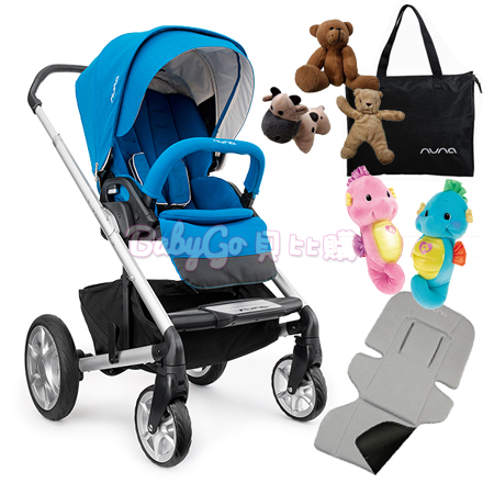*babygo*Nuna MIXX 手推車(水藍)【送安撫海馬+時尚提袋+可愛玩偶+涼感墊】