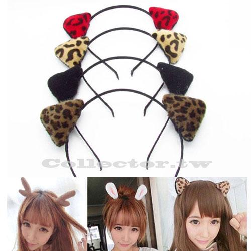 【F16110304】COSPLAY 化妝舞會配件 貓耳朵造型髮箍 聖誕新年造型髮箍 大人小孩都適用