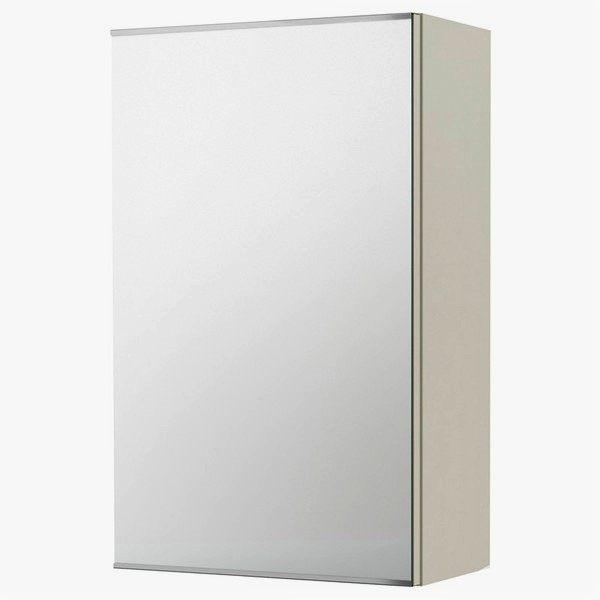 小型單門鏡櫃 鏡箱 浴室化妝鏡 寬48x高70x深15cm 簡單收納 防水防腐緩衝靜音