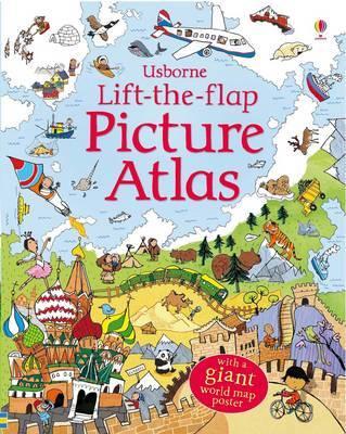 英國 Usborne Lift-the-Flap 翻翻書 Picture Atlas *夏日微風*