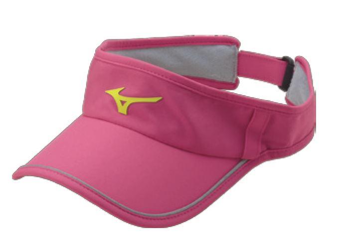 [陽光樂活]MIZUNO 美津濃 女運動路跑空心帽 可調節式 吸汗速乾 眼鏡插座 J2TW620368 桃紅