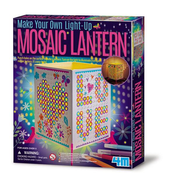【4M 創意 DIY】00-04618 創意馬賽克燈籠 Mosaic Lantern