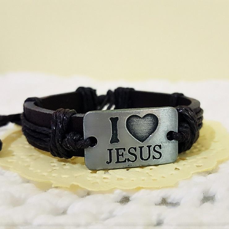 【more 禮品小舖】編織手環JESUS我愛耶穌/基督教福音禮品、小物、受洗、受浸、生日禮物