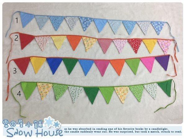 ╭☆雪之屋小舖☆╯棉布三角旗/派對裝飾/生日拍照道具/女孩房間佈置/戶外郊遊野餐帳篷裝飾