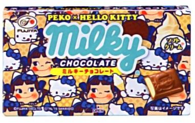 不二家PEKO+KT牛奶巧克力 42g