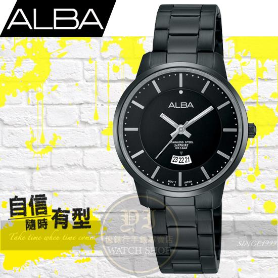 ALBA劉以豪代言超人氣簡約腕錶/IP黑-30mm/VJ22-X203SD/AH7G39X1公司貨