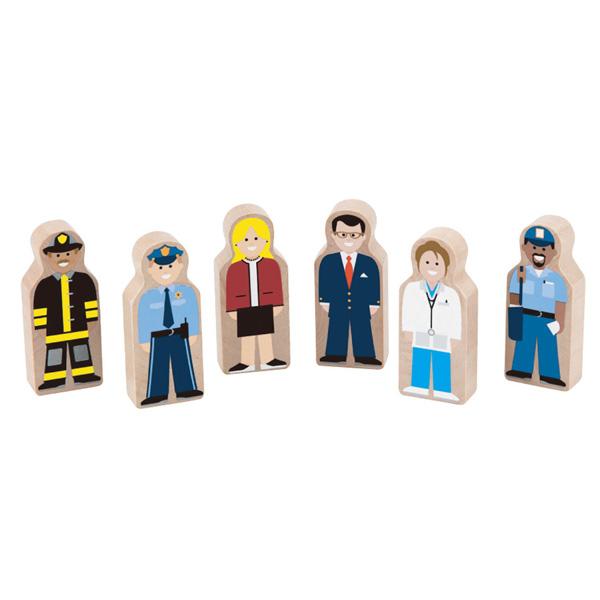 【華森葳兒童教玩具】建構積木系列-木製職業偶 N7-4072