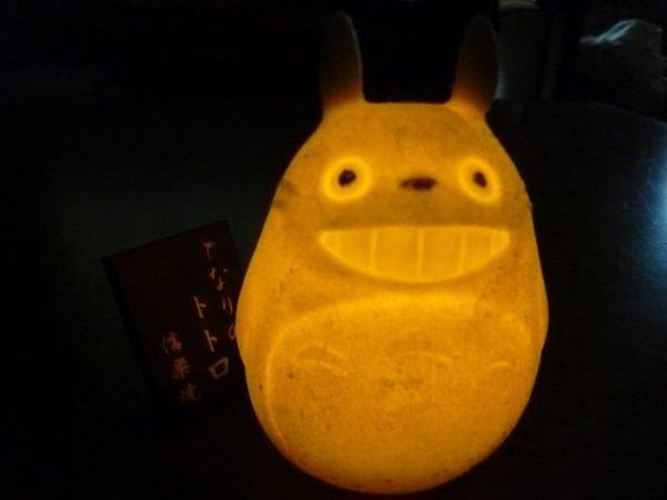 【真愛日本】14072800025 信樂燒造型夜燈-棕龍貓  龍貓 TOTORO 豆豆龍  擺飾 飾品 正品