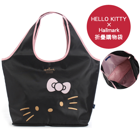 HELLO KITTY × Hallmark聯名折疊購物袋-大臉