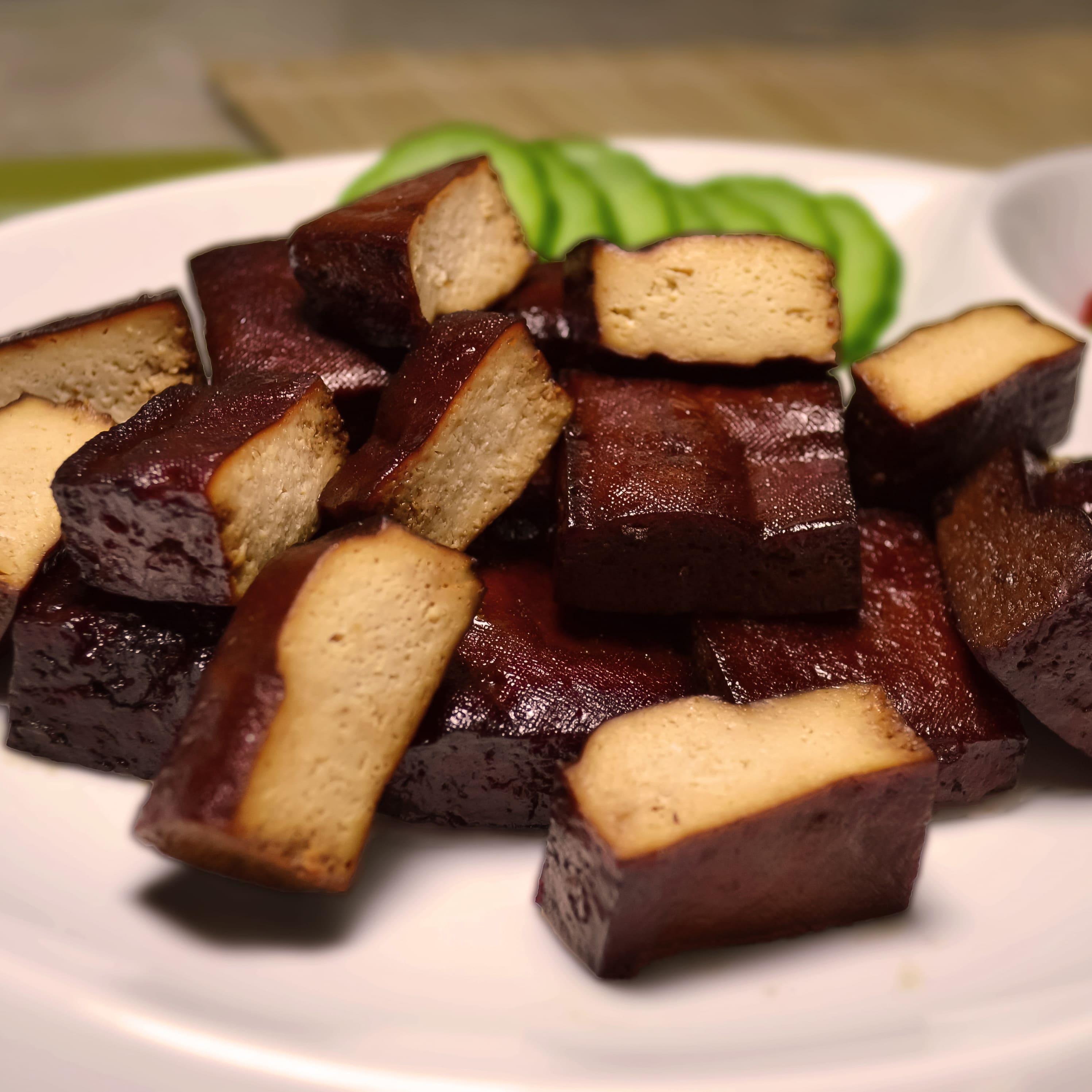 珍廚坊 醬滷香Q小豆干|多汁厚片豆干170g入|料理級滷味/新鮮現滷|非基改黃豆|團購美食|真空包裝退冰即食/滷汁飽滿美味健康新選擇