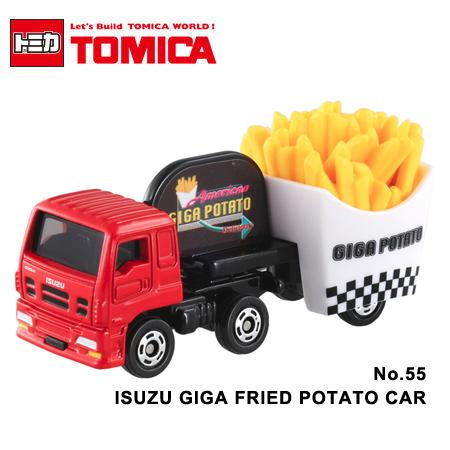 日貨 TOMICA No.55 ISUZU GIGA FRIED POTATO CAR 薯條載運車 真車系列 汽車模型 多美小汽車【N201345】