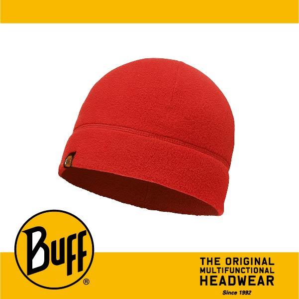 BUFF 西班牙魔術頭巾 POLAR保暖系列 保暖帽 [素面紅] BF110929-426-10