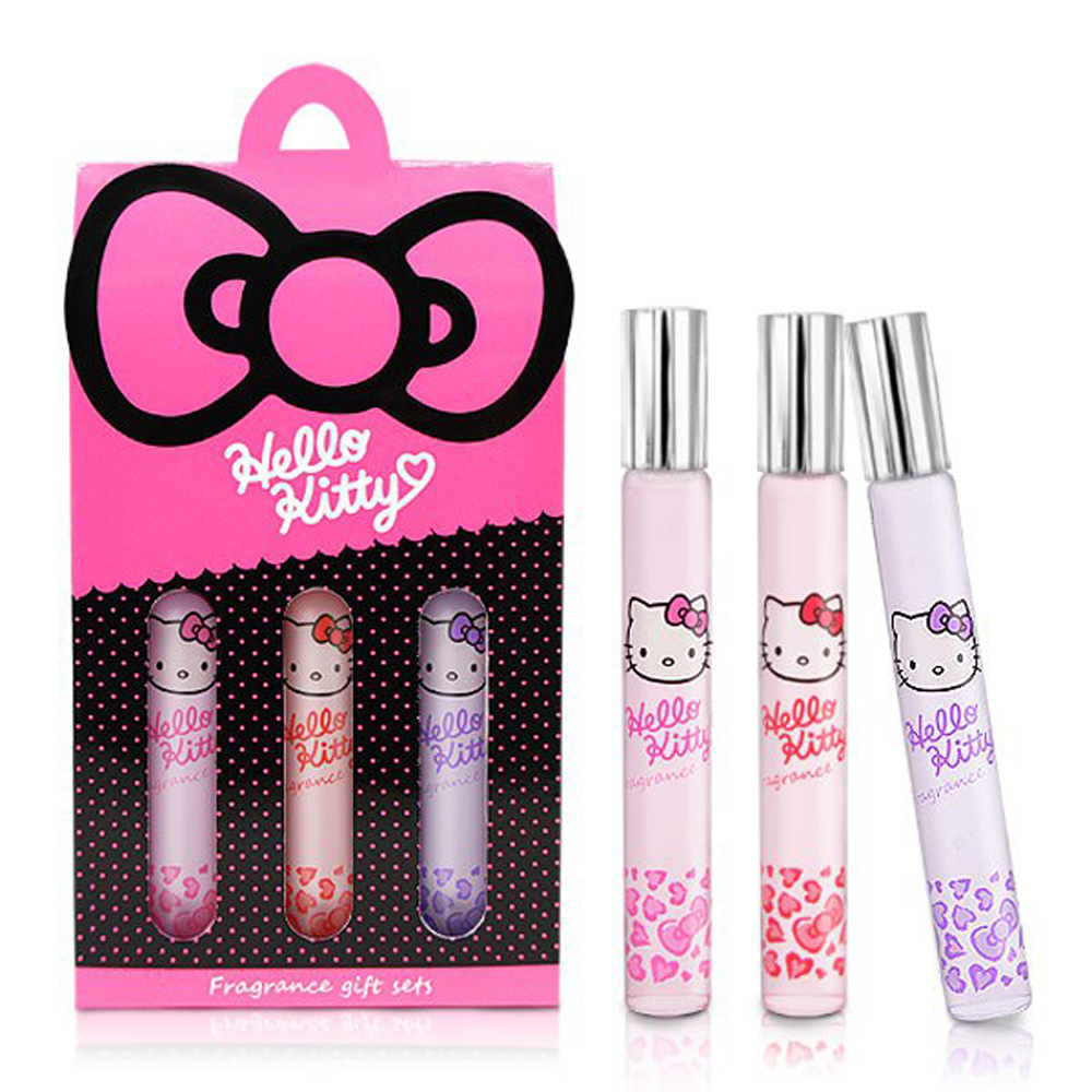 ☆Hello Kitty☆ 凱蒂貓 魔幻甜心香水筆 –3入禮盒( 甜蜜戀情、粉紅誘惑、祕密花園) 三麗鷗授權商品