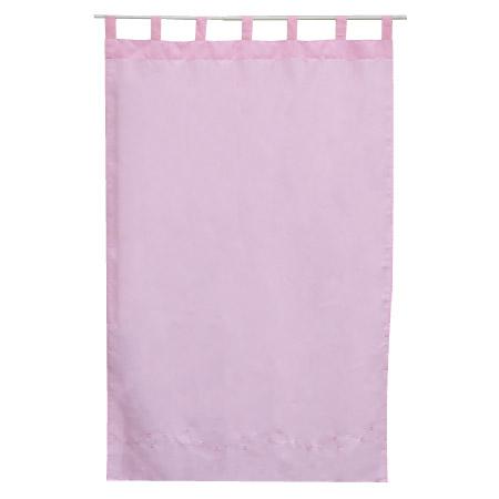 吊帶式窗簾 繡花粉 100x150