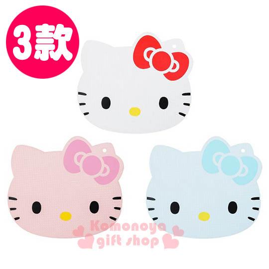 〔小禮堂〕Hello Kitty KYOCERA日本京瓷 日製造型塑膠砧板《三色.大臉》