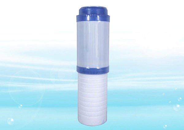 雙節濾心平頭型(雙效濾心)椰殼活性炭+棉質溝槽濾心