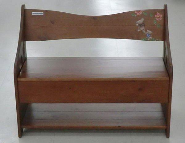 【尚品傢俱】439-01 美洛小熊 彩繪實木穿鞋椅-可置物(數量有限,售完為止)