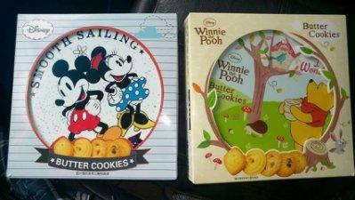 有樂町進口食品 迪士尼奶油餅乾禮盒 229g / 27片 小熊維尼/米奇妮 僅剩各一盒 下單請註名要哪一款4897047802799