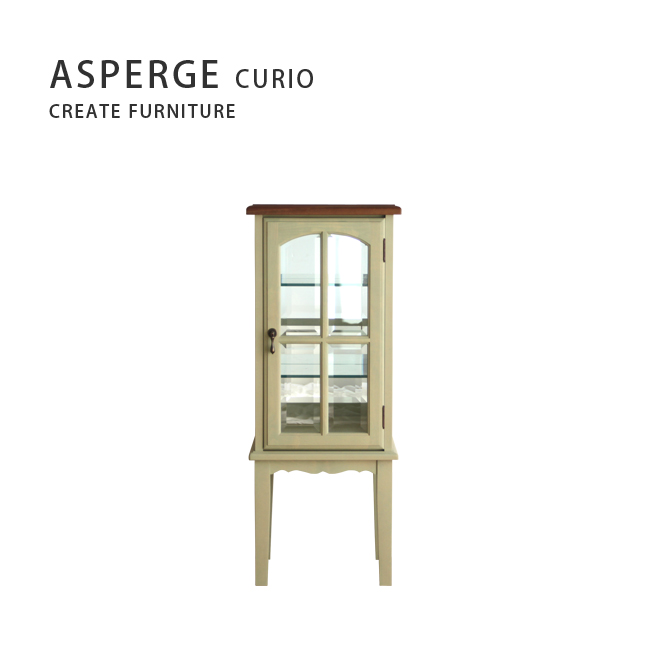【MUKU工房】北海道 旭川 家具 Create Furniture 無垢 ASPERGE 玻璃櫃40 (原木 / 實木)